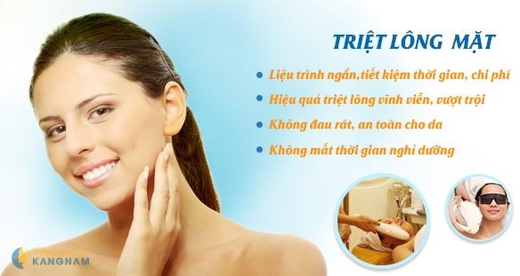 Tẩy lông mặt vĩnh viễn - Hiệu quả tới 98% tại Kangnam 12
