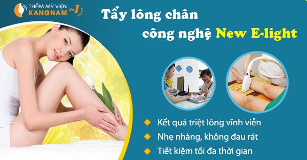 Tẩy lông chân vĩnh viễn công nghệ New E-Light 1
