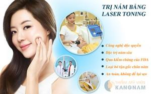 Trị nám da mặt triệt để công nghệ Laser Toning